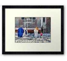 Christmas - Brother & Sister - painted Framed Print