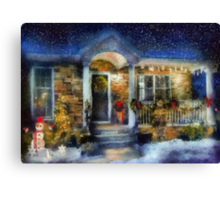 Christmas - Dressed up for the holidays - painted Canvas Print