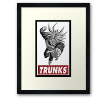 Trunks Obey Style Framed Print