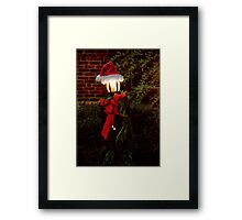 Christmas - It's going to be a cold night Framed Print
