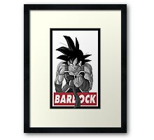 Bardock Obey Style Framed Print