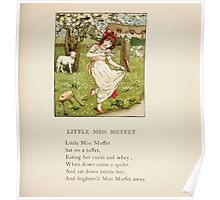 The April Baby's Book of Tunes by Elizabeth art Kate Greenaway 1900 0059 Little Miss Muffet Poster