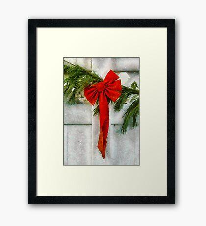 Christmas - Ribbon Framed Print