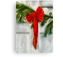 Christmas - Ribbon Canvas Print