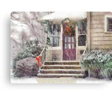 Christmas - Silent Day - painted Canvas Print