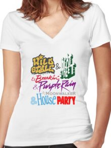 And...Retro Forever Fresh 1984 Women's Fitted V-Neck T-Shirt