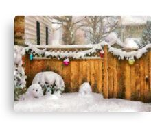 Christmas - The Decorations are out - painted Canvas Print