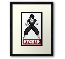 Vegetto Obey Style Framed Print
