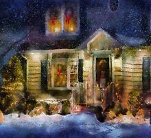 Christmas - The night before Christmas - painted by Mike  Savad