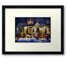 Christmas - The night before Christmas - painted Framed Print