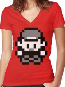 Pokemon Trainer Red (Generation 1 Red/Green/Blue) Women's Fitted V-Neck T-Shirt