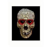 Skull Art - Day Of The Dead 3 Stone Rock'd Art Print
