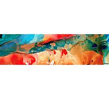 Life Eternal Red And Green Abstract Photographic Print