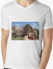 Angels Landing Zion NP Utah Mens V-Neck T-Shirt
