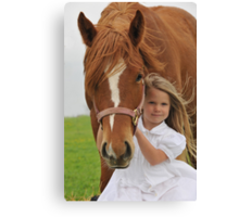 Young Horse Lover Canvas Print
