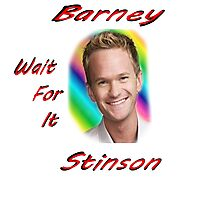 "Barney ""Wait for it"" Stinson Photographic Print"