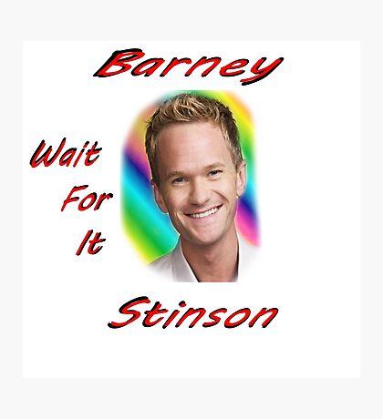 "Barney ""Wait for it"" Stinson Photographic Print"