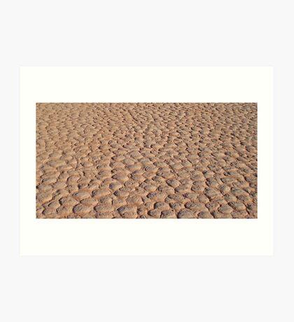 Dont Step on a Crack - Wadi Rum, Jordan Art Print