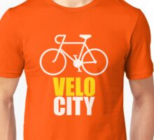 VeloCity Version 3 Yellow White Unisex T-Shirt