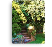 The Stairs that lead to the Garden  Canvas Print