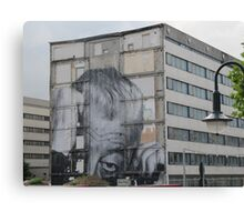 Mural of a sneaky man in Berlin Canvas Print