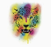 POP Tiger - Colorful Paint Splatters and Drips - Stained Canvas Art  Kids Clothes