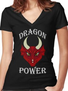 Dragon Power Women's Fitted V-Neck T-Shirt