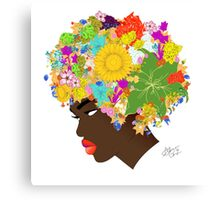 Flower 'Fro version 2 Canvas Print