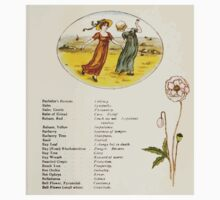 Language of Flowers Kate Greenaway 1884 0013 Descriptions of Specific Flower Significations Baby Tee