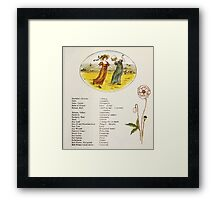 Language of Flowers Kate Greenaway 1884 0013 Descriptions of Specific Flower Significations Framed Print