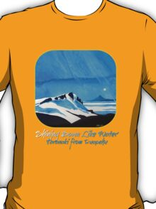 """Shining Down Like Water"" - Taranaki from Ruapehu T-Shirt"