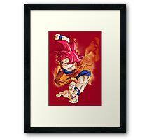 Goku Fire Framed Print