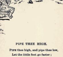 Miniature Under the Window Pictures & Rhymes for Children Kate Greenaway 1880 0035 Pipe Thee High Sticker