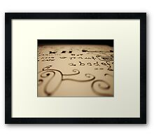 What type of person are you? Framed Print