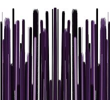 Vertical Bar Scratch Purple by Sookiesooker