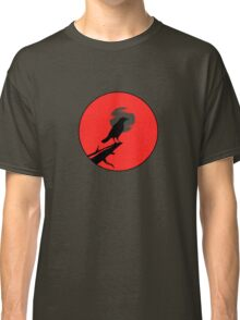 The Crow (red sky transparent moon) Classic T-Shirt