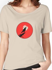 The Crow (red sky transparent moon) Women's Relaxed Fit T-Shirt