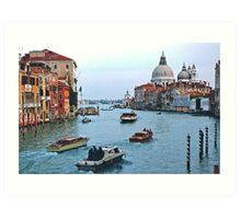 Grand Canal Venice Italy Art Print