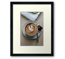 Cafe, Como Italy Framed Print