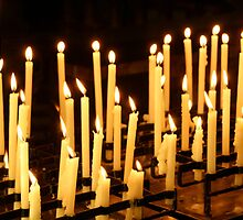 Candles, Como Italy by Brad Starks