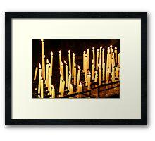 Candles, Como Italy Framed Print