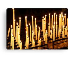 Candles, Como Italy Canvas Print