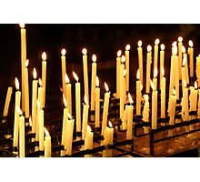 Candles, Como Italy Photographic Print