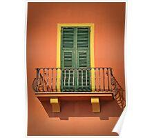 Antique Balcony Poster