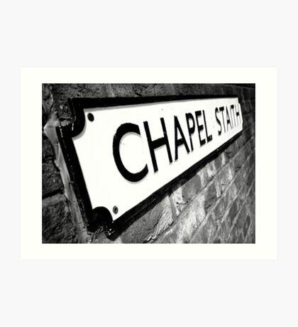 Chapel Staith Street Sign Art Print