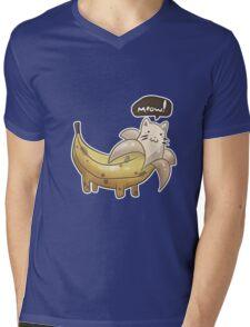 Banana Kitty  Mens V-Neck T-Shirt