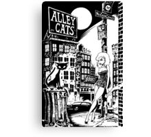 ALLEY CATS - COVER POSTER Canvas Print