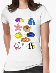 Fishes Womens Fitted T-Shirt