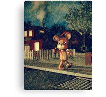 Sad Teddy Canvas Print