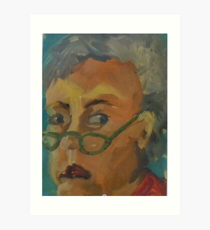 Self Portrait With Lady Bug Readers Art Print